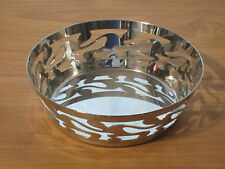 ALESSI *NEW* Corbeille inox brillant 18cm H.5cm SG27 Ethno Giovannoni
