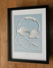 Ear Phones by Reinhard  - Reinhard print, music print, 12''x16'' frame