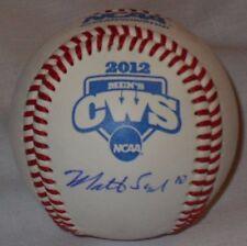 2012 MATT SENK SIGNED OFFICIAL NCAA CWS BASEBALL STONY BROOK SEAWOLVES SB W/COA