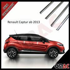 Für RENAULT Captur Fensterleisten 4tlg V2A aus Edelstahl Chrom ab 2013