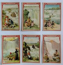 Sammelbilder - Berühmte Wasserfälle -  Nr. 1-6 - Aecht Franck Werbung