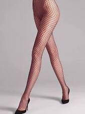 $67 New WOLFORD SEXY JUDITH Fishnet Tights Dark Orchid Honey Clove XS S M