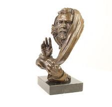 9937157-dss moderne Bronze Skulptur Figur Büste von Gott H37cm