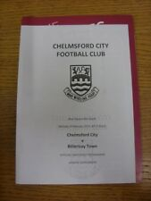 04/02/2013 Chelmsford City v Billericay Town [Programme Dated 26/12/2012 With Si