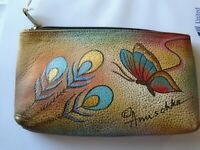 Anuschka Zipper pouch, New with tags