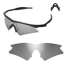 New Walleva Titanium Replacement Lenses For Oakley M Frame Sweep Sunglasses