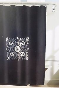 "Grammercy Studio Embroidery Fabric Shower Curtain 70"" x 72"" NIP"