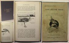 Hudson Lost British Birds 1894 Ornithologie Vogelkunde Vögel Zoologie selten xy