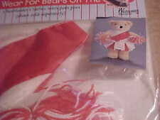 """BEAR WARE, 12"""" BEARS AND DOLL CLOTHES """"CHEER LEADER W/POMPOM""""  NEW IN PACKAGE 28"""