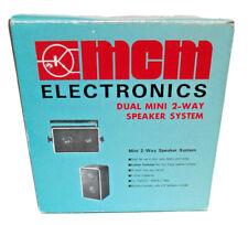 New ListingMcm Electronics Dual Mini 2-Way Speaker System #51-070 Vintage Stereo Acc Nib