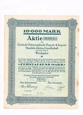 Deutsch-Osteuropäische Export- & Import-Handels-AG, Wiesbaden 1923, 10.000 Mark
