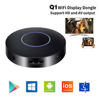 HDMI AV WIFI Dongle Display TV sans fil Stick Q1 Miracast Airplay Récepteur New