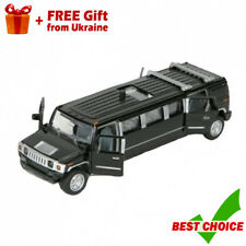 Technopark Black Hummer Limousine with Opening Doors Ukrainian Model, Scale 1/43