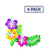 Flowers Floral Leaves Pattern Decorative Sticker Vinyl Decal 1-025