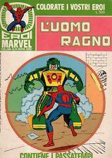 Uomo ragno n 6 - collana Alfa nuova serie - colorate i vostri eroi
