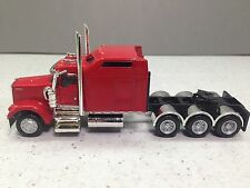 HO 1/87 Promotex # 6431 Kenworth W-900 Tri-Axle Tractor - Red