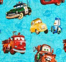 Disney Cars On Map Cotton Fabric by Springs Creative Bty