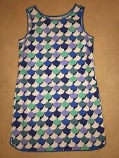 BNIP Boden Ladies Blue Patterned Sleeveless Tunic Dress - Size 12