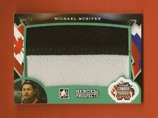MICHAEL MCNIVEN 2015-16 ITG Heroes & Prospects Canada Russia Jersey #22/25
