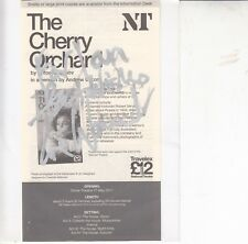 ZOE WANAMAKER HAND SIGNED inscribed PROMO FLYER FOR THE CHERRY ORCHARD