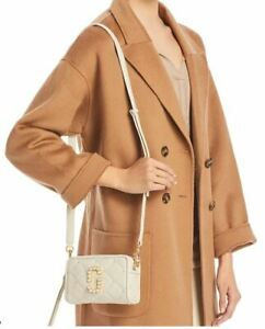 THE MARC JACOBS SOFTSHOT PEARL 17 LEATHER CROSSBODY BAG OATMILK~ NWT ~DUST BAG