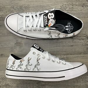 Men's Converse x Bugs Bunny Chuck Taylor All Star OX Size 9 Low White Gray
