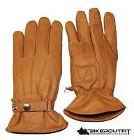SKORPION Handschuhe BOBBER Lederhandschuhe Motorrad braun Classic Gr. L
