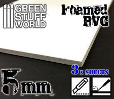 PVC Espanso 5 mm - Foglio A4 - Forex - costruzione di diorami tegole miniature
