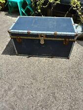 Large Vintage Chest Trunk Case Shipping Coffee Table