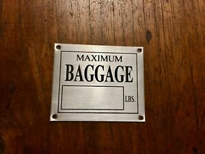Aeronca Style Aircraft Baggage Compartment, Aluminum, Acid Etched, Neat