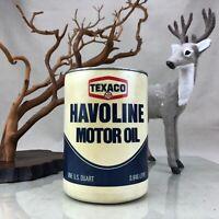 Texaco Havoline Motor Oil Vintage 1970's Plastic Quart Can Full Unopened