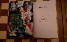 Shane Warne's Century SIGNED Shane Warne Hardback 1st edition 1st impression