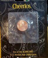 2000-P Cheerios Memorial Cent * COA * U.S. Mint *
