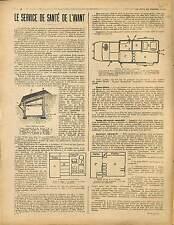 ARTICLE COMPLET Service de Santé de l'Avant Voiture Chirurgicale 1917 WWI