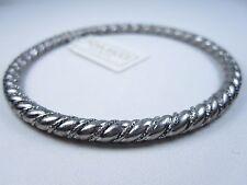 "Design - 2 1/2"" wide 0382 Nina Ricci Rhodium Plated Bangle Twist"