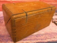 Antique Singer Sewing Box Puzzle Small Treadle Machine Wood Folding 1890's ?