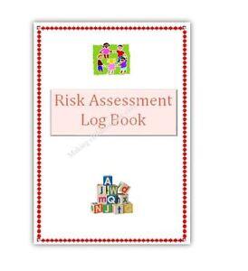Childminder Risk Assessment Log Book Childminding resources, readymade