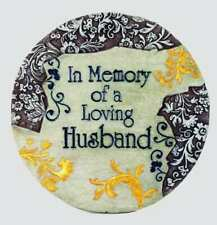 """In MEMORY of A Loving Husband- Memorial Garden Stepping Stone 9.5""""  by Spoontiqu"""