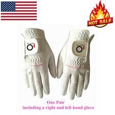 Women's Golf Gloves Bionic Rain Grip Fit Hot Wet Weather Sweat Washable 1 Pair