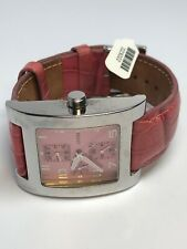 Guess Ladies Multifunction Quartz Watch Apx. 36mm Pink Square Face