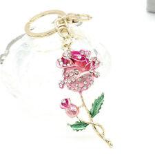 Crystal Rhinestone Keyring Keychain Charm Pendant Bag Purse Car KeyChain Ring S