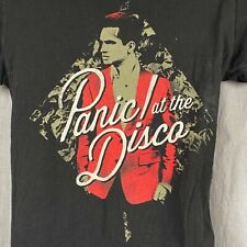 Panic At The Disco Brendon Urie Womens Medium T-Shirt Greatest Hits Cover Tultex
