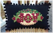 PATTERN~*Love & Joy*~Christmas~Table Runner~Pillow Set *2 designs in 1!*
