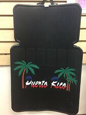 ~ NEW ~ PUERTO RICO PALM TREES 2 PC RUBBER CAR MATS