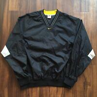 VTG 90s Nike Windbreaker Jacket Mens Large Center Swoosh Hip Hop Streetwear OG