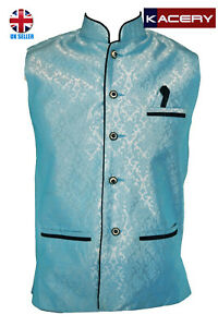 Men's/Kid Indian Jacquard Waist Coat Nehru Jacket Modi Jacket JA1080 1 TO 40