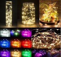 40 Led 4m Micro LED À Piles Guirlande Lumineuse Argent Fil De Cuivre Noël Décor