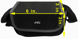 JVC Camcorder Camera Bag Padded Pouch Soft Case Black With Shoulder Strap Black