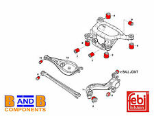 BMW 3 SERIES E46 REAR CONTROL ARM MOUNT TRAILING SUBFRAME BUSH KIT SET FEBI A984