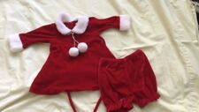 Marmellata 3 months girls dress bloomers hat red Christmas holiday winter dressy